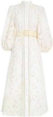 Zimmermann Empire Broderie Long Dress