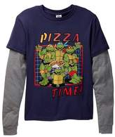 Junk Food Clothing Teenage Mutant Ninja Turtles Pizza Time! Two-Fer Tee (Little Boys & Big Boys)