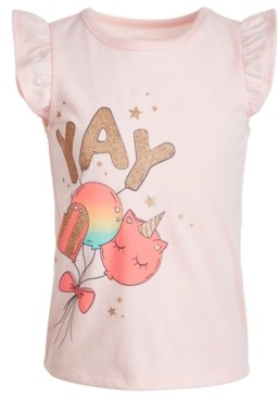 Epic Threads Toddler Girls Yay Balloon T-Shirt, Created for Macy's