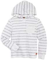 7 For All Mankind Boys' Striped Reverse French Terry Hoodie - Little Kid