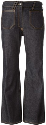 Courreges Mid Rise Cropped Jeans