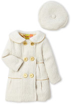 penelope mack (Infant Girls) Two-Piece Double-Breasted Coat & Hat Set