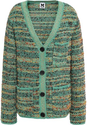 M Missoni Metallic Wool-blend Jacquard Cardigan
