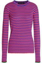 Proenza Schouler Striped Silk And Cashmere-Blend Top