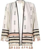 River Island Womens White print festival kimono