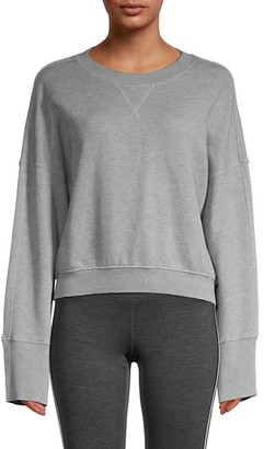 Spiritual Gangster Long Bell-Sleeve Cotton-Blend Sweatshirt
