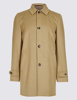 M&S Collection Wool Blend Coat with ButtonsafeTM
