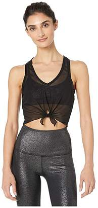 Beyond Yoga Mesh Regards Cropped Tank (Black/Silver Twinkle) Women's Clothing
