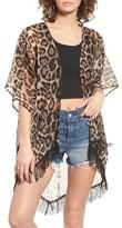 David & Young Women's Leopard Print Kimono