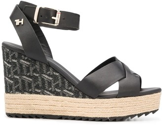Tommy Hilfiger Woven Wedge Heel Sandals