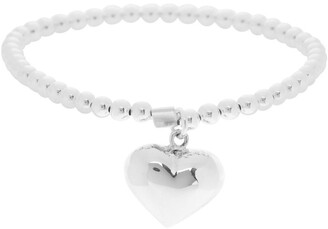 Von Treskow Sterling Silver Stretchy Bracelet With Puffy Heart
