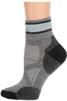 Smartwool PhD(r) Pro Approach Mini (Light Gray) Women's Crew Cut Socks Shoes