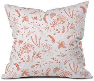 Deny Designs Kerrie Satava Wild Prarie Blush Throw Pillow