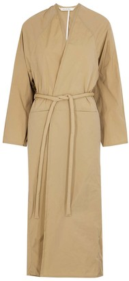Kassl Editions Tafta Camel Belted Shell Coat