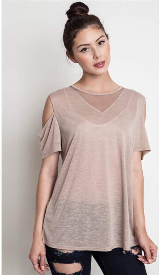 BEIGE People Outfitter Mesh Tee