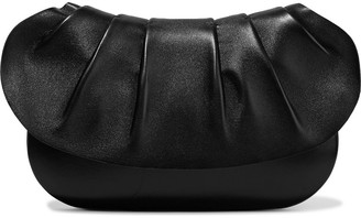 The Row Fan Bag 10 Pleated Leather Clutch