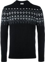 Saint Laurent fair isle knit sweater