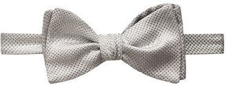 Eton Silver Shiny Bowtie - Self Tied