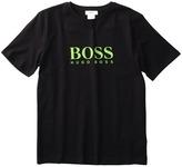 HUGO BOSS Kids - Boys Logo Tee J25459 (Little Kids / Big Kids) (Black) - Apparel