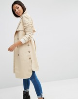 Asos Trench with Side Splits & Step Hem