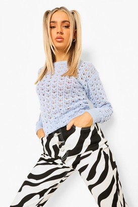 boohoo Pointelle Jumper