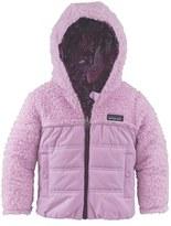 Patagonia Toddler Girl's 'Honey Puff' Reversible Hooded Jacket