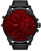 Diesel Night Ops Mr. Daddy 2.0 Leather-Strap Watch