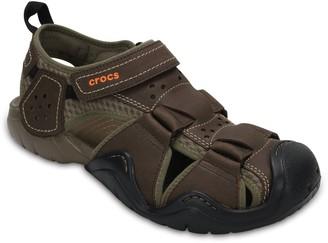 Crocs Swiftwater Men's Leather Fisherman Sandals