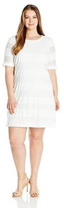 Junarose Women's Plus Size Danja Short Sleeve Dress
