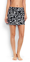 Classic Women's Petite SwimMini Skirt Control-Black/White Etched Scroll
