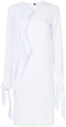 Calvin Klein Asymmetric Striped Dress