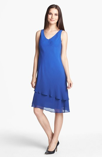 Eileen Fisher Double Layered Silk Dress