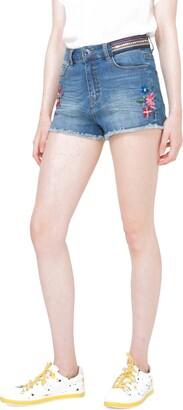 Desigual Women's Ight Waz Denim Short Trouser Medium Light 30
