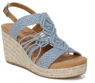 Zodiac Palm Espadrille Wedge Sandal