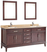 "MTDVanities Sierra 72"" Double Bathroom Vanity Set with Mirror and Faucet"