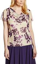 Jacques Vert Women's Soft Rose Print Floral Short Sleeve Blouse,Size 8
