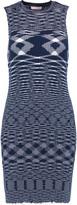 See by Chloe Intarsia-knit cotton mini dress