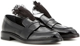 Christopher Kane Feather-embellished patent leather penny loafers