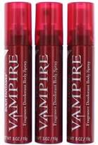 Body Fantasies Vampire Body Spray-Purse Sized-Pack Of 3