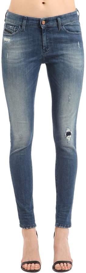 Diesel Slandy Skinny Stretch Cotton Denim Jeans