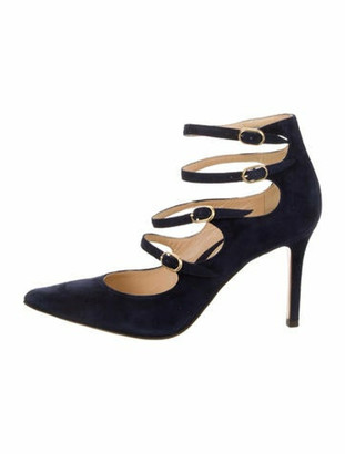 Marion Parke Mitchell Suede Pumps Navy