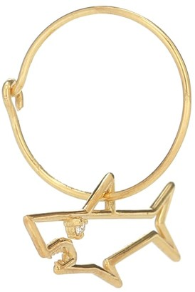 ALIITA Tiburon Brillante 9kt gold single hoop earring with diamond