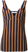 Victoria Beckham gingham cami top - women - Silk/Polyamide/Spandex/Elastane/Wool - 8
