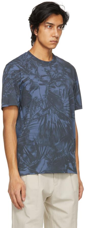 Thumbnail for your product : Ermenegildo Zegna Couture Blue Cotton Graphic T-Shirt