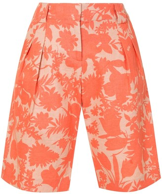 Alexis Talbot botanical print shorts