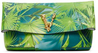Versace Green Jungle Vitrus Clutch