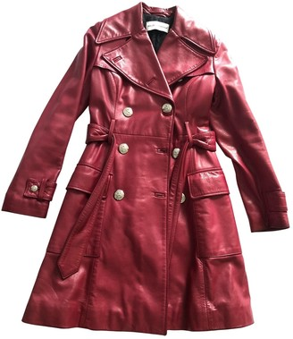 Dolce & Gabbana Red Leather Coat for Women Vintage