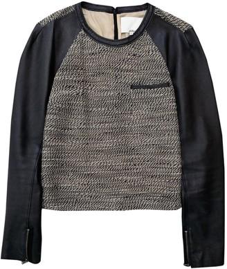 3.1 Phillip Lim Black Leather Knitwear for Women