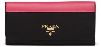 Prada Two-Tone Flap Wallet