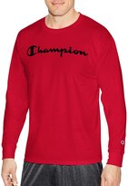 Champion Mens Classic Jersey Long Sleeve Graphic Tee, S